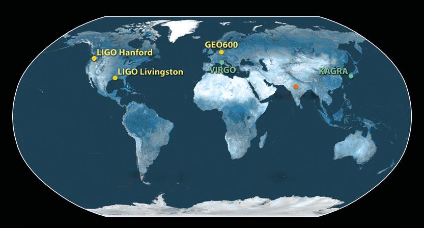 Kütleçekim Detektörü Merkezleri Hanford, Washington'da ve Livingston, Louisiana'daki ikiz LIGO detektörleri ve Almanya'daki GEO600 detektörleri halen çalışıyor. İtalya'daki VIRGO ve Japonya'daki KAGRA detektörleri bir yenileme çalışmasından geçiyor ve sırasıyla 2016'da ve 2018'de çalışmaya başlayacakları öngörülüyor. Hindistan'da altıncı bir detektörün yapılması planlanıyor. Dünya'da daha fazla kütleçekim detektörü olması, bilim insanlarının kütleçekim dalgalarının nereden geldiğini daha büyük bir hassasiyetle öğrenmesini sağlayacak.