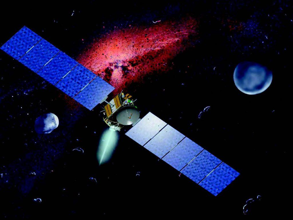 İyon itkili roket sisteminin kullanıldığı Dawn uzay aracı